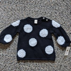 Tucker & Tate Black/White Sweater 6mos NWT